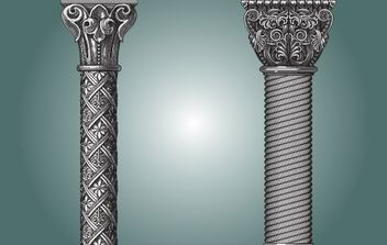 High Decorated Ornamental Pillar - vector gratuit #172077