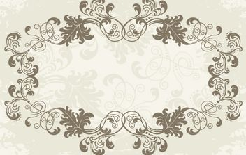 Floral Ornamental Rounded Frame - vector gratuit #172087