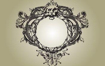 Vintage Medieval Lion Crest - Free vector #172127