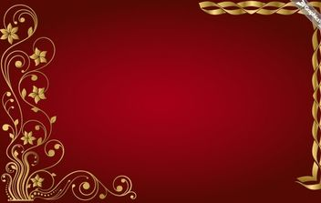 Golden Floral Vector Frame - Free vector #172227
