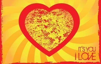 Grunge Heart - Free vector #172307