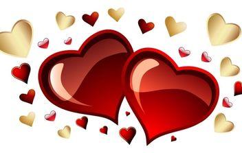 Free Vector Hearts, - Free vector #172407
