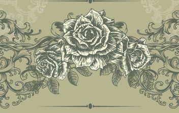 Free Floral Vintage Illustration - Free vector #172687