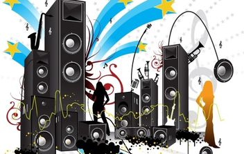 FREE POP ART STYLE MUSIC VECTOR - Free vector #172757