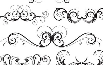 Ornate Vector Swirls - Free vector #172777