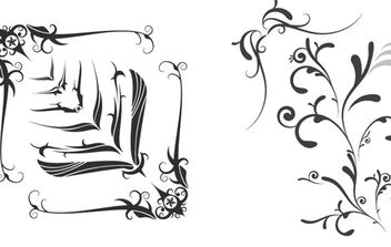 Free Vector Swooshes, and Fancy Corner Designs - Free vector #172817
