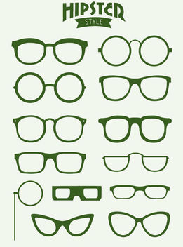 13 Hipster glasses - vector gratuit #172887