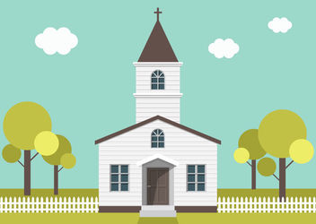 Funky Minimal Village Church - vector gratuit #172957
