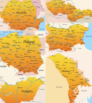European Country Maps Pack - Free vector #173017