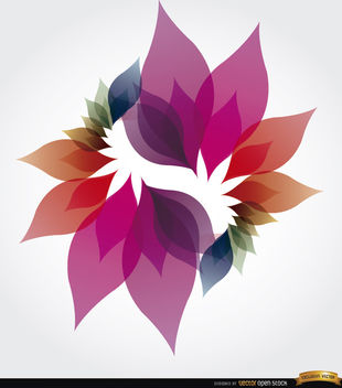 Colorful petals spiral background - Free vector #173047