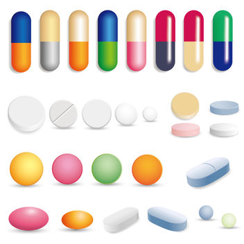 Glossy Capsule & Pill Colorful Set - Free vector #173067