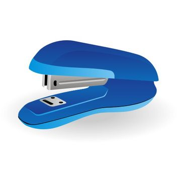 Blue Stapler of an Office Stationary Tool - vector gratuit #173247