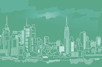 Free NYC Skyline Vector - бесплатный vector #173367