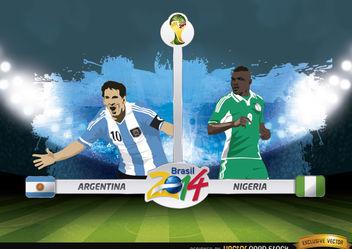 Argentina vs. Nigeria match Brazil 2014 - Kostenloses vector #173407