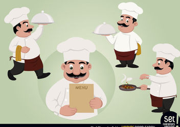 Chef Character Set - Free vector #173477