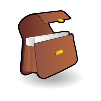 Briefcase icon - Free vector #173497