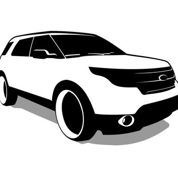 Ford Explorer vector - бесплатный vector #173537