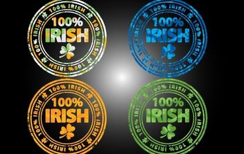 Grungy 100 Percent Irish Stamp - Free vector #173827