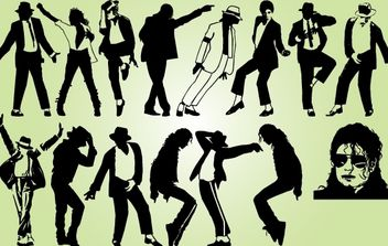 Michael Jackson Dancing Pack - Free vector #173897