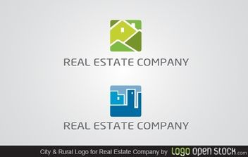 City and Rural Real Estate - vector gratuit #173907