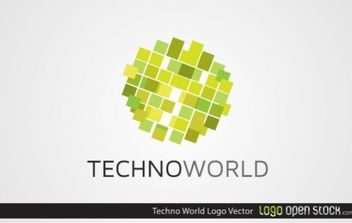 Techno World - Free vector #173917
