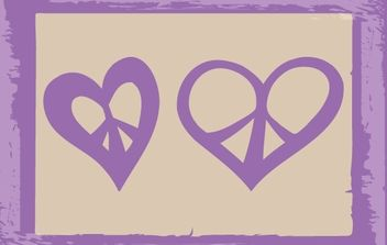 Sketchy Hearts in Peace - Free vector #173957