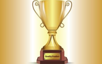 3D Realistic Gold Trophy - Free vector #174047