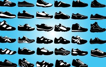 Black and White Sports Boot Pack - vector gratuit #174157