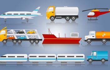 Three Ways Transport Pack - Free vector #174177