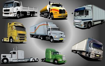 Photorealistic Shipping Lorry Pack - Free vector #174267