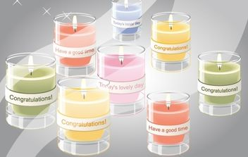 Celebrations Day Candle Pack - vector gratuit #174307