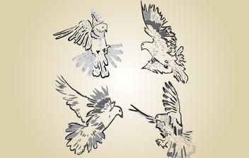 Sketchy Pigeon Vector - vector gratuit #174357