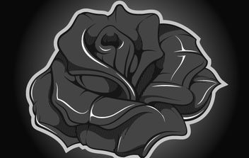 Metallic Rose Vector - Free vector #174447