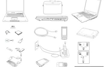 Notebook & Tech Accessories Vector - Free vector #174507