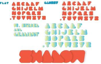 Plasti Puzzle Font - Free vector #174567