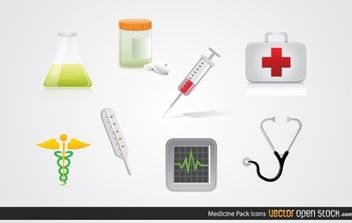 Medicine Icon Pack - vector gratuit #174607