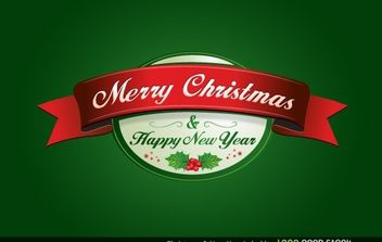 Christmas and New Year Label - vector gratuit #174677