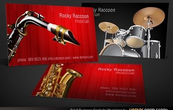 Musicians Business Card Set 2 - Free vector #174707