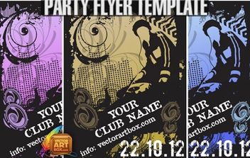 Great Free Vector Flyer Template For Party - Free vector #174747