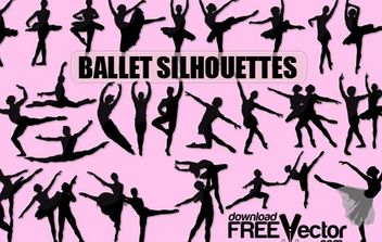 Vector Ballet Silhouette - vector #174777 gratis