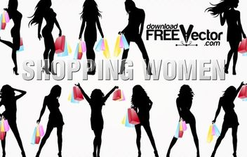 Silhouette Shopping Women - vector #174847 gratis