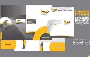 Corporate Identity Template - Free vector #174917