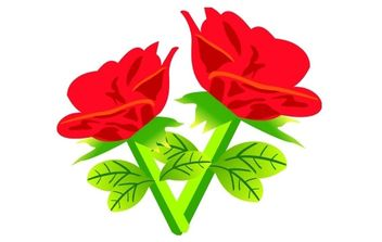 Free Vector Red rose Flowers - vector gratuit(e) #174947