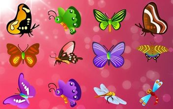 12 different butterflies - vector #174957 gratis