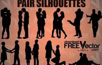 Love Couple Silhouettes - Free vector #175007