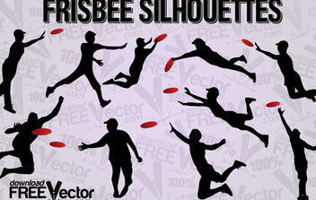 Free Vector Frisbee Silhouettes - Free vector #175017