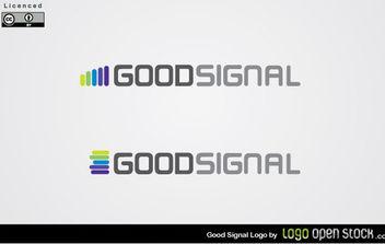 Good Signal Logo Vector - Free vector #175027