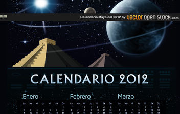 Calendario Maya del 2012 - Free vector #175077