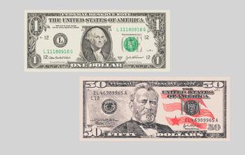 Vector Free Dollar Banknotes - Kostenloses vector #175137