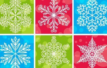 Snowflake pattern vector design - Free vector #175157